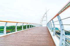 Saeyeongyo bro mellan Seaseom och Seogwipo port i den Jeju islaen Royaltyfri Fotografi