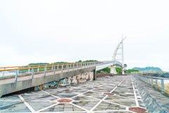 Saeyeongyo bro mellan Seaseom och Seogwipo port i den Jeju islaen Royaltyfri Bild