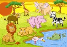 Safari. Group of african safari animal Stock Images