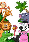 Safari animal cartoon background Royalty Free Stock Photos