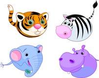 Safari animal set. Cute safari animals set. Vector illustration Royalty Free Stock Photography