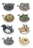 Safari Animals illustration stock