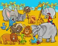 Safari animals cartoon illustration Royalty Free Stock Photography