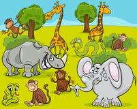 Safari animals cartoon illustration Stock Photo