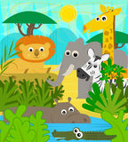 Safari Animals royalty free illustration