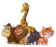 Safari Animals-Gruppe Lizenzfreies Stockbild