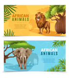 Safari Animals Horizontal Banners Royalty Free Stock Image