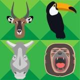 Safari Animals - Illustration Royalty Free Stock Photos