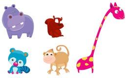 Safari animals set Stock Images