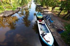 Safari boat on Sri Lanka Stock Photos