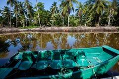 Safari boat on Sri Lanka Royalty Free Stock Photos