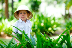 Safari boy Royalty Free Stock Images