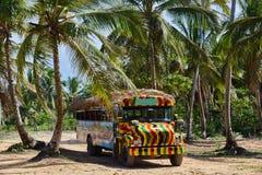 Safari bus in the caribbean Royalty Free Stock Image