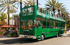 Safari bus and tourists in San Diego Zoo. San Diego, CA - May 8: Safari bus and tourists in San Diego Zoo in Balboa park, California on Mat 8, 2016. This World Royalty Free Stock Images