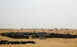 A safari camp in Dubai, UAE. Tourists are taken to such camps after dune bashing for local performances, food and more.  Royalty Free Stock Photos
