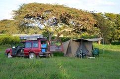 Safari Camp Stock Photo