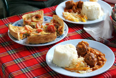 Safari camping food. Image of some safari camping food stock photos