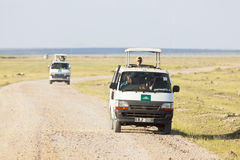 Safari Cars In Kenya, editorial Stock Photos
