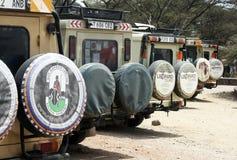 Safari cars Stock Photos