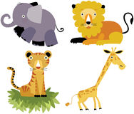 Safari cartoon animal vector set