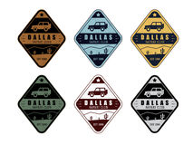 Safari club set in 6 colors in vintage style Royalty Free Stock Photos