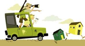 Safari d'immobiliers illustration de vecteur