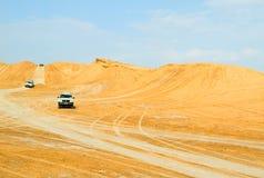 Safari dans le désert de Sahara Photos stock