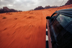 Safari de désert de Wadi Rum images libres de droits