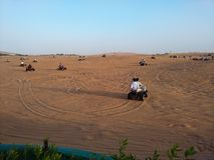 Safari de désert de Dubaï Images libres de droits