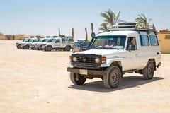 Safari de jeep sur le désert près de Hurghada Image stock