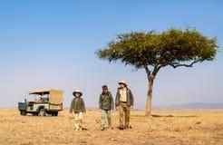 Safari de la familia foto de archivo