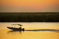 Safari de rivière sur la rivière de Chobe photographie stock libre de droits