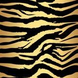 Safari de selva del oro de la raya del tigre y de la cebra de la textura del modelo del fondo Modelo inconsútil del tigre y de la imagenes de archivo