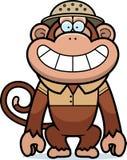 Safari de singe de bande dessinée illustration stock
