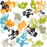 Safari de voiture de voyage Photo libre de droits