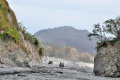 Safari del campo de la ceniza del volcán en Filipinas Fotos de archivo libres de regalías