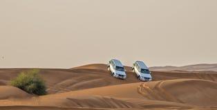 Safari del deserto in Dubai uae Fotografia Stock Libera da Diritti