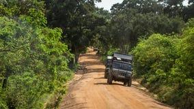 Safari del episodio en el parque nacional Sri Lanka de Yala Imagen de archivo libre de regalías