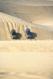 Safari in the desert. Of Sahara royalty free stock image