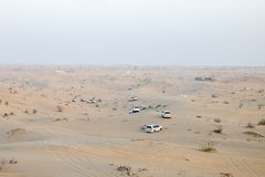 Safari in the desert. Dune in OAE Sharja 4Ñ…4 jeep stock image