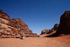 Safari in desert, Jordan. Safari in desert Wadi Rum. Jordan Stock Image