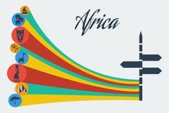 Safari do africano do vetor Foto de Stock