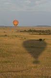 Safari do balão de ar quente Fotografia de Stock Royalty Free