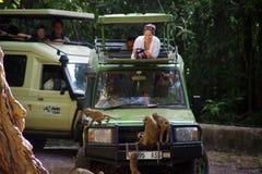 Safari do jipe no lago 2 Manyara Foto de Stock