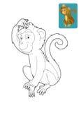 Safari dos desenhos animados - página da coloração para as crianças Imagens de Stock
