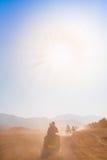 Safari Egipto de la motocicleta Imágenes de archivo libres de regalías