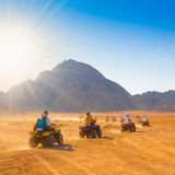 Safari Egipto de la motocicleta Imagen de archivo libre de regalías