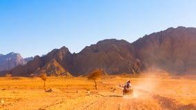 Safari Egipto de la motocicleta Imagen de archivo