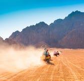 ¡Safari Egipto de la motocicleta! Fotos de archivo libres de regalías