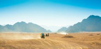 Safari Egipto de la motocicleta Fotografía de archivo